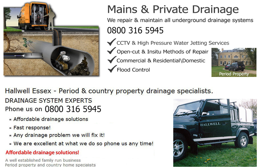mains and private drainage
