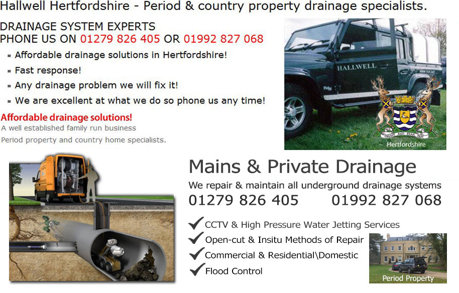 Hertfordshire Map Drains Drain and drainage septic tank